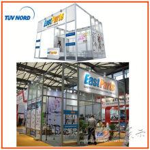 exposição de design de moda de cabine de exposição de vitrine de alumínio para feira