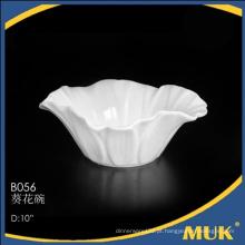 2015 novos produtos modernos fabrica bacia de salada de china de osso branco
