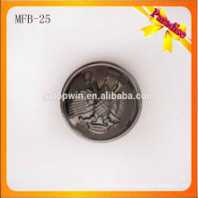 MFB25 Pistole Farbe halb Ball Metall Schaft Knopf für Kleidungsstück Dame Mantel 23mm