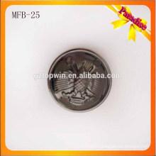 MFB25 Gun color half ball metal shank button for garment lady coat 23mm