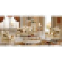 Conjuntos de mobiliário de sala de estar com sofá de tecido de madeira (510B)
