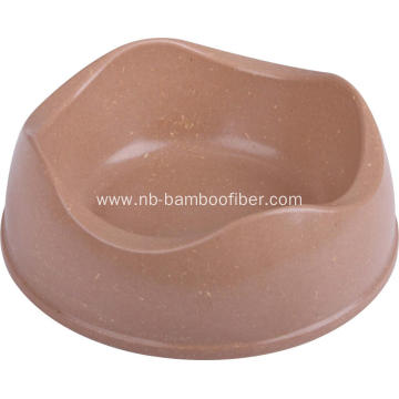Bamboo fiber dog eating bowl