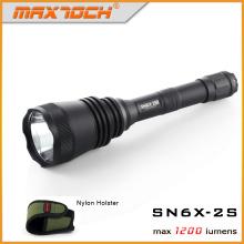 Maxtoch номер 2С охоты фонарик Дальность, улучшенная версия SN6X-2С, один-поворот Стробоскоп, правоохранительных органов , полиции фонарик