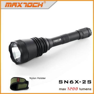Maxtoch 2S Long Range Hunt Flashlight, Improved Version of SN6X-2S, One-Twist Strobe, Law Enforcement , Police Flashlight