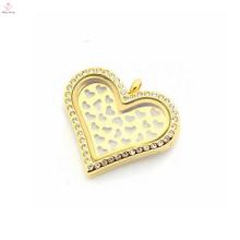 оптовая нержавеющая сталь, золотое сердце сладко пластины подвески для плавающей медальон