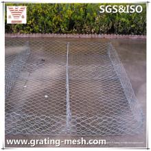Boîte galvanisée de Gabion de tissage / maille en acier de Gabion