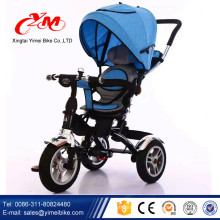 OEM дети гуляют три колесо велосипеда/езда на цикл игрушки для детей 1 2 лет/резиновые колеса трехколесный велосипед Baby 2016 складной