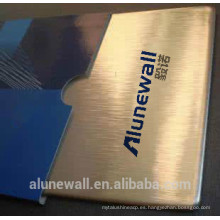 Alunewall 2 metros de ancho de cobre incombustible y panel compuesto de aluminio CCP uso de la pared al aire libre