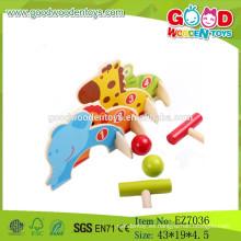 2015 nuevo juguete animal del juego del croquet, juego de madera del croquet de los cabritos, juego barato del croquet