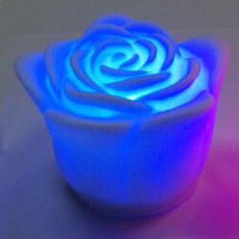 Color changing rose LED candle