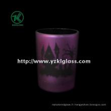 Coupe de bougie en verre à double paroi couleur par SGS (KLB130916-197)