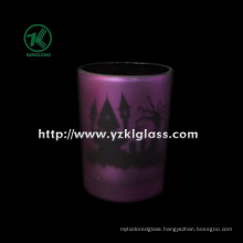 Color Double Wall Glass Candle Cup by SGS (KLB130916-197)