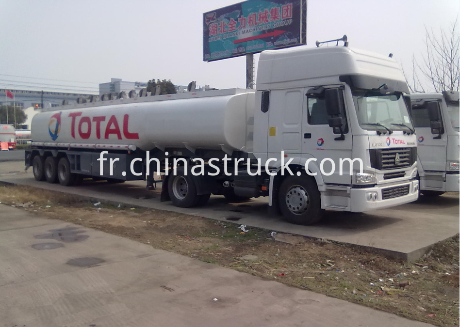 45000 liters ADR oil tanker trailer for TOTAL group