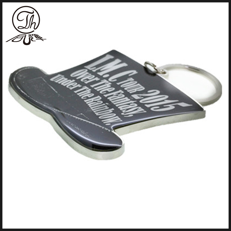 Make your own silver print keyring metal