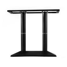 Base latérale de table de hauteur noire, 28 po