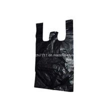 Plastikschwarz Einkaufstasche mit Schnittgriff