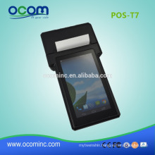 POS-T7 Factory Wireless handheld pos terminal with printer