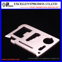Venta al por mayor supervivencia del Ejército Pocket Multifuncional Creid Card Tool (EP-TS8127)