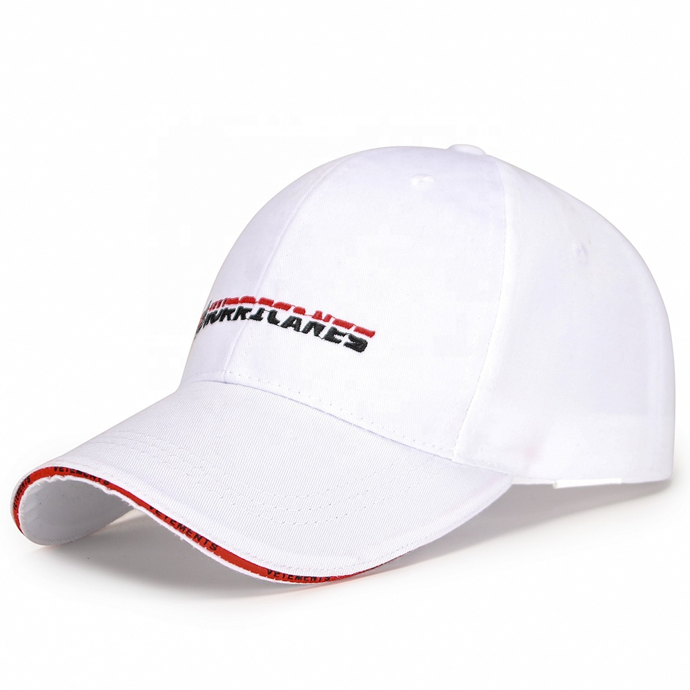Wholesale 6 Panel Sandwich Brim Baseball Caps 1