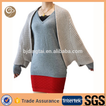 Women customized knitted cashmere poncho