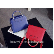 Candy color stitching cow leather single shoulder sling bags lady cross body bag women handbag HB1901