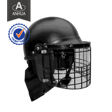 Anti-Riot Helmet with Both PC &Steel Net Visor