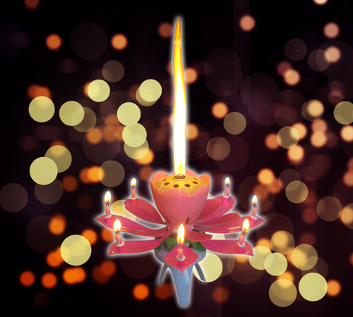 firework music candle