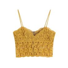 Crop top débardeur en tricot uni avec fermeture éclair