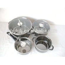 morror face unique products to sell enamel soup pot/milk pot