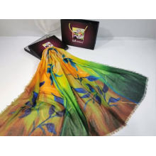 2020 New Arrival Fashion  Digital leaves Print polyester Scarf  Travel Sunscreen Shawl