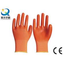 13G Nitril Orange Polyester Shell, Orange PVC 3/4 beschichtet (N6030)