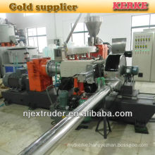 Two stage pelletizer for plastic extruder machine