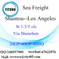 Shantou Port mare che spediscono a Los Angeles
