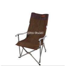 Outdoor High-Grade Aluminum Portable Single Lunch Camping Chairs, Backrest Beach Chair Folding Chairs