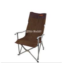Cadeiras de acampamento do único almoço portátil de alumínio de primeira qualidade exterior, cadeiras de dobradura da cadeira de praia do espaldar