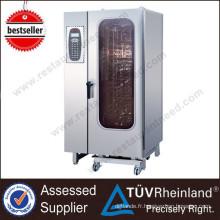 Restaurant commercial équipement 20-Tray / Gn1 / 1 Four à vapeur Combi électrique