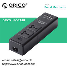 ORICO HPC-2A4U Multifunktions-USB-Ladegerät-Buchse 4 Anschlüsse USB-Ladegerät und kompatibel mit zwei 3-poligen Steckdosen