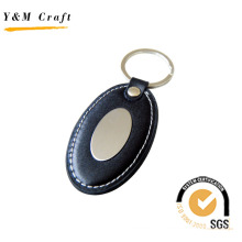 Hot Selling Compectitive PU Leather Metal Key Ring (Y02158)
