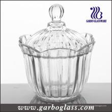 Cristal de vidrio Candy Jar, vidrio Candy Pot