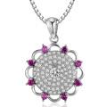 Big Flower Micro Pendants en Argent 925 Pendentifs Bijoux
