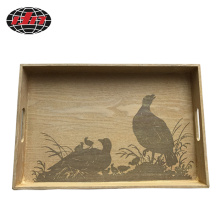 Rectangle Printed Wood Tray