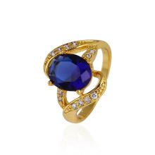 Xuping Zircon Gold-Plated Mulheres dedo anelar
