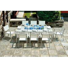 Outdoor folding chairs cafe dining chairs and table aluminum frame chair
