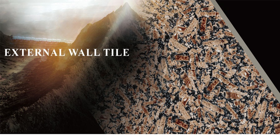 External wall tile size
