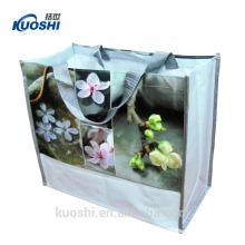 venda por atacado laminado brilhante não tecido reciclar o saco