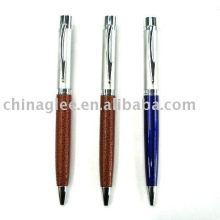 caneta de bola de couro