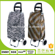 Fold up shopping cart with wheels