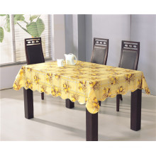Toalha de mesa impressa por atacado barata e forte do PVC da fábrica com revestimento protetor de flanela