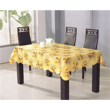 Factory Wholesale Cheap and Strong PVC Printed Tablecloth with Flannel Backing