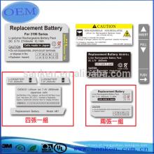 Dongguan Professinal Fabricante OEM Rubber Label